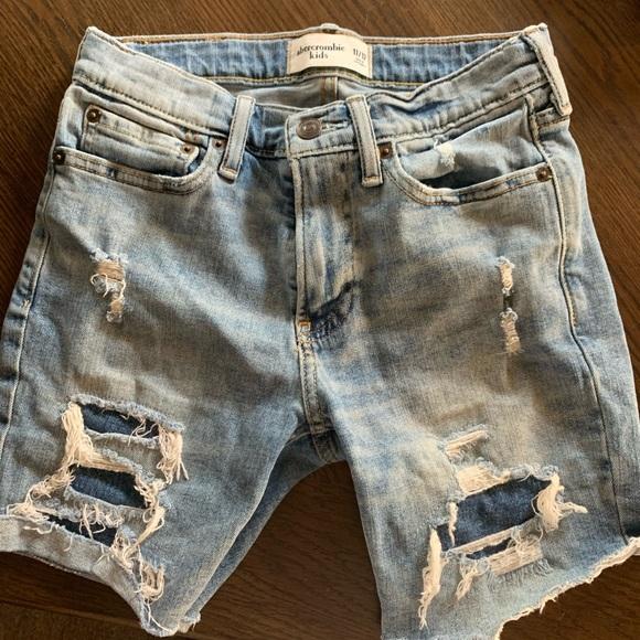 Boys destroyed denim shorts